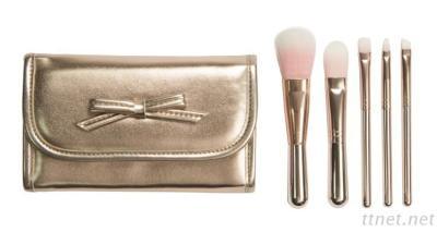 6912RG-B 5-Pc Make Up Brush W/ Cosmetic Bag