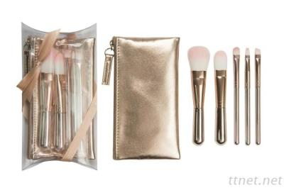 8332RG 5-Pc Make Up Brush W/ Cosmetic Bag