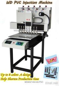WD 8 Colors Automatic Pvc Injection Machine For Shoes Cover