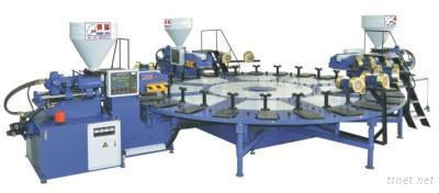 Three Color Disc Plastic Sole Injection Molding Machine