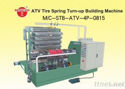 ATV Tire Spring Turn-Up Building Machine