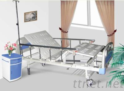 Two Manual Crank Care Hospital Bed