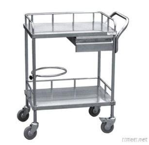 Stainless Steel Therapy Cart With One Drawer