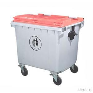 1100L Plastic Waste Bin With Wheels And Lid