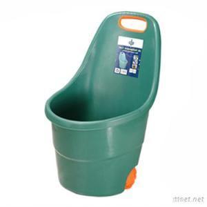 2012 Newest Plastic Round Green Garden Cart With Wheels