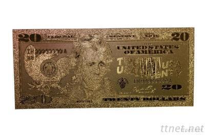 Gold Foil Dollor Banknotes