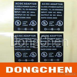 Customized Self Adhesive Electrical And Electronic Label