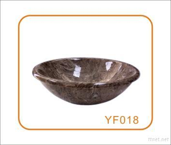 Conch Insect Fossils Stone Basin & Sinks for Bathroom and Outdoor
