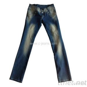 Lady's Straight Jeans