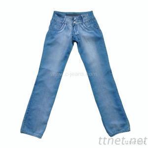 Women's /Lady's Zipper Straight Long Jeans