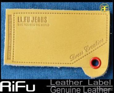 Custom Jeans Leather Label Genuie Leather Real Leather Label For Jeans