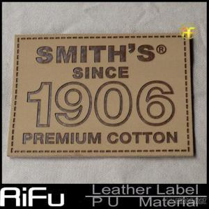 2014 High Quality Leather Jeans Label