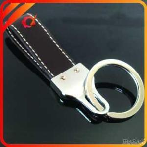 business keyring with genuin leather strap