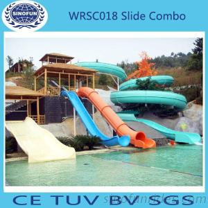 [Sinofun Rides] China Cheap High Quality Big Water Park Fiberglass Water Slide For Sale