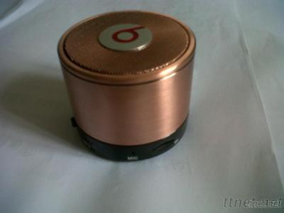 Limited Edition Wireless Monster Mini Speaker With Microphone Bluetooth  In Copper And Gold Color MS07
