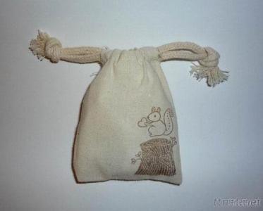 100% Organic Cotton Muslin Bag, Cotton Drawstring Bag