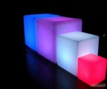 Plastic Led Cube Chairs