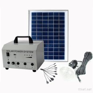Solar Home Lighting System With Phone Charger