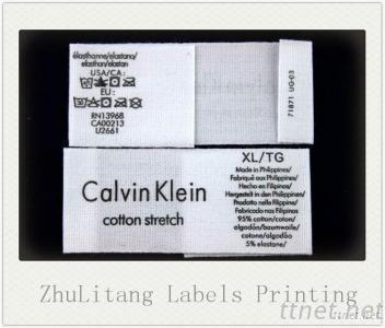 Cotton Wash Care Label For Garment Brand Label