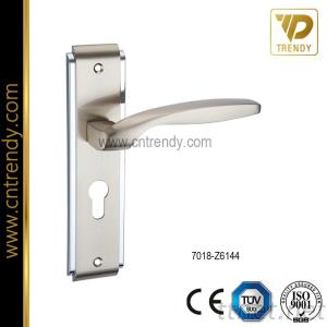 Zinc Alloy Door Handle With Big Plate European Classic Style