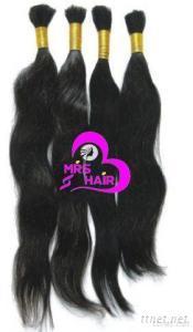 Virgin Remy Indian Human Hair Bulk Raw Hair Material