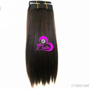 Human Hair Extension Hand Tied Hair Weft