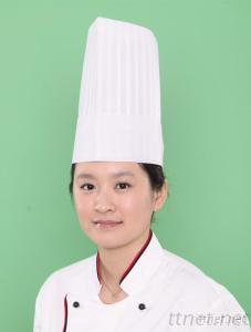 Special White Non Woven Flat Top Chef Hat