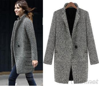 European Winter Women Coats Model Fashion Wool Coat