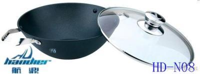 Senior Non-Stick Cast Iron Pan With Glass Lid(HD-N08)