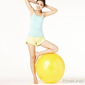Strongly Stressed Anti-Burst 65Cm Eco PVC Yoga Ball SGS Passed Non-Toxic Balance Ball Gym &Pilates Ball With Custom Logo