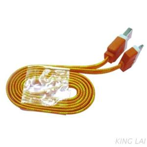 3-24 Flat line multi-color USB AM TO I-PHONE 4