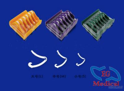 Medical Plastic Hem-O-Lok Clips