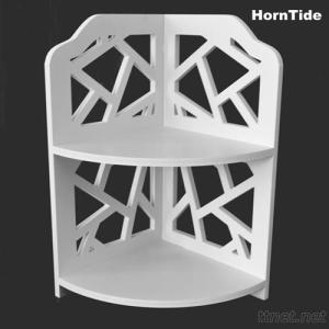 HornTide Brief Fashion Organizer Storage Rack 2-Tier Corner Shelf