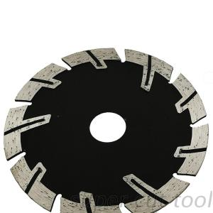 Diamond segmented cutting disc for stone edge dry cut