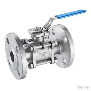 3PC Ball Valve Flanged End With Direct Mounting Pad ASME150LBS