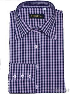 New Product Regular Fit Classic Collar Cotton Check Causal Men Shirt