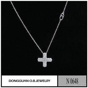 N648 Fashion Necklace Silver Zircon Necklace