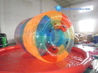 Commercial Grade PVC Inflatable Water Cylinder / Water Roller Ball For Adult