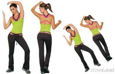 Women's Athletic Apparel Fitness Suit Tank Tops and Pants Fitness Set FWWT04