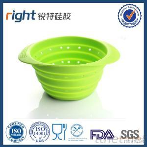 Collapsible Silicone Colorful Strainer