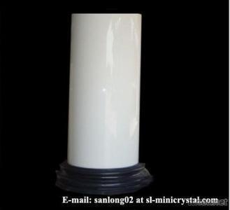 Marmoglass Column Cladding, Crystallized White Stone