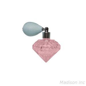35ml empty diamond shape glass bottle customization color 18/415 neck size with perfume bulb atomizer flat head shape