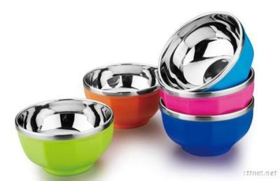 Colorful Double-Layer Bowl Sets