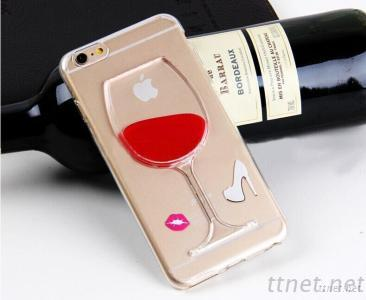 iPhone 6 Soft Case Cover TPU Material Red Wine Glass Design
