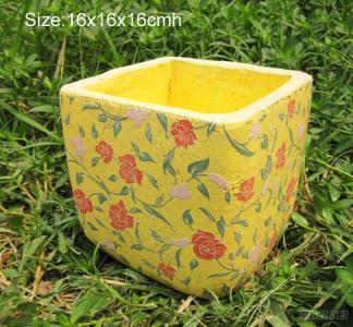 Ceramic Flower Pot with Decal