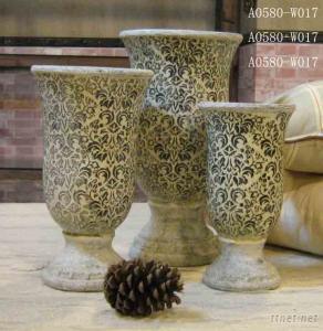 Ceramic Flower Pot.Set of 3 PCS