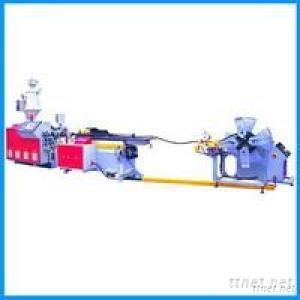 PE-PVC Single Wall Corrugated Pipe Production Line