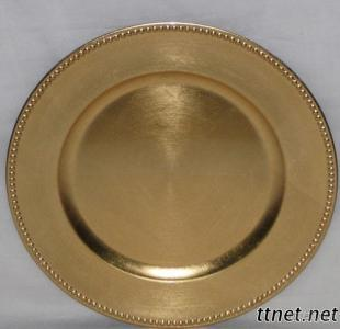Beaded Charger Plates/Decorative Plate/Lacquer Plates