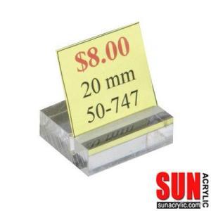 Acrylic Slot-Block Card, Sign Holders