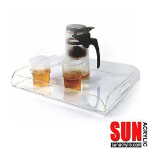 Clear Acrylic Serving Tray With 2 Handles
